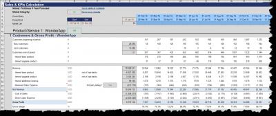Product specific KPIs (Customer metrics, gross profit etc.)